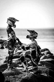 motocyklistka, motocyklista, miłość