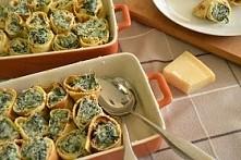 Naleśniki ze szpinakiem i serem  Składniki na naleśniki (ok.12-14 naleśników)...