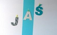 Literki na ścianę z imienie...