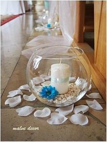 alejka ślubna ze świeczników