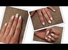 Hybryda Cosmetics Zone / Białe paznokcie z kryształkami / M&A Beauty