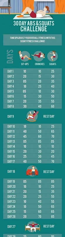 30 days abs & squats