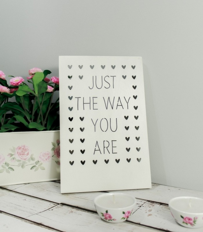 Drewniany Plakat 3D - Just The Way You Are