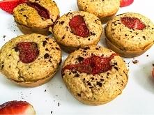 Dietetyczne muffinki z truskawkami - smacznie, zdrowo, szybko!!!