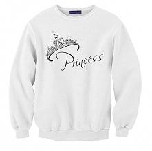 bluza dla niej z napisem PRINCESS z kompletu BLUZY DLA PAR PRINCE I PRINCESS ...