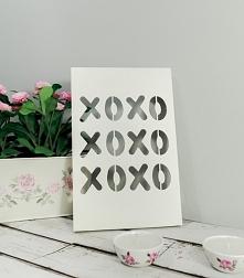 drewniany plakat 3d xoxo
