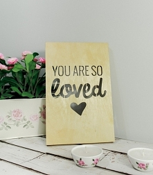 Drewniany Plakat 3D - You Are So Loved