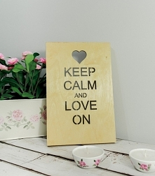 Drewniany Plakat 3D - Keep Calm And Love On