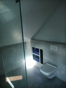 łazienka szary gres
