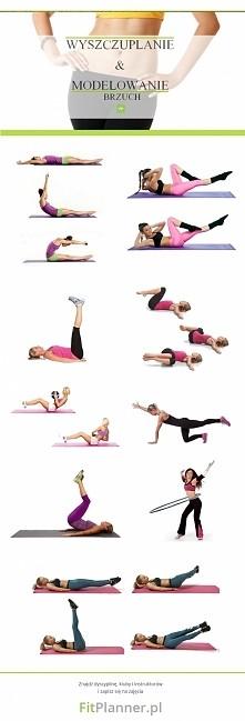Ćwiczenia na płaski brzuch ❤️ Wykonaj każde ćwiczenie w 3 seriach po 60 sekun...