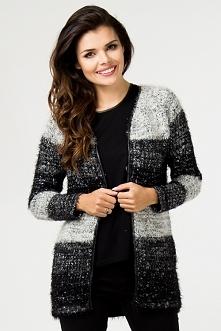 Długi sweter kardigan – wiosenna narzutka