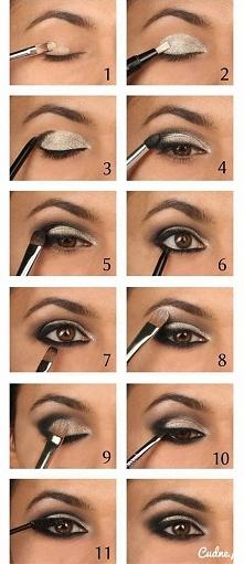 Srebrzysty makijaż oka