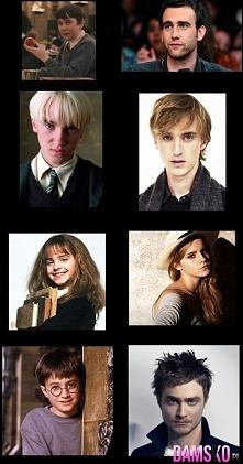 wczoraj i dziś..aktorzy z Harrego Pottera