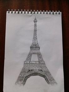 Mój rysunek Wieży Eiffla :)...