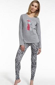 Cornette Giraffe 669/46 piżama Urocza piżama damska, z przodu nadruk słodkiej...