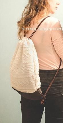 Plecak worek w wersji zimowej