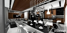projekt wnętrz domu: jadalnia, salon, kuchnia | LOOK #77