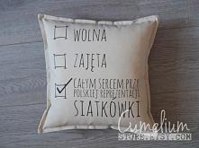 Ręcznie robiona unikatowa poduszka dla miłośniczek siatkówki! Link do strony Allegro na FB /CymeliumStore