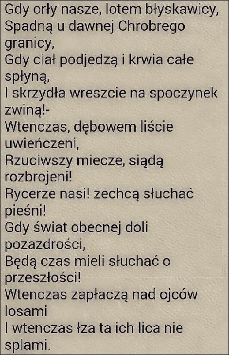 Adam Mickiewicz Pan Tadeusz Na Cytaty Wiersze I