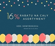Kochani, nie ma to jak dobrze zacząć Nowy Rok! Z tej okazji mamy dla Was 16% rabatu na cały asortyment! Zapraszamy do sklepu Olive.pl :)