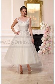 Stella York Tea-Length Tulle Wedding Dress Style 6258  $279.00(58% off)  2016 wedding dress,cheap wedding dresses online,plus size wedding dresses,wedding dress for sale,wedding...