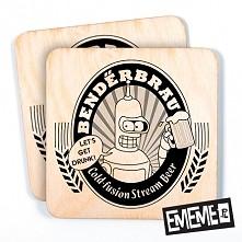 Pomysł na prezent dla GEEKA. Drewniane podkładki pod kubek.