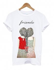 Koszulka FRIENDS warkocz - modna koszulka dla przyjaciółek z obrazkiem best f...