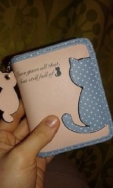 Mój nowy koci portfel :)