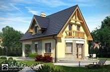 Żwirek - projekt sympatycznego domu z poddaszem użytkowym