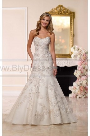 Stella York A-Line Wedding Dress Style 6235  $559.00(52% off)  2016 wedding dress,cheap wedding dresses online,plus size wedding dresses,wedding dress for sale,wedding dress prices