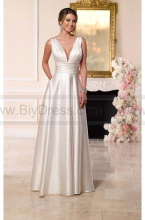 Stella York Luxe Satin Wedding Dress Style 6180  $289.00(55% off)  2016 wedding dress,cheap wedding dresses online,plus size wedding dresses,wedding dress for sale,wedding dress prices