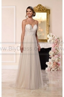 Stella York Beaded Lace French Tulle Wedding Dress Style 6215  $369.00(53% off)  2016 wedding dress,cheap wedding dresses online,plus size wedding dresses,wedding dress for sale...