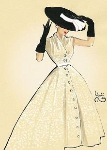 Early 50s fashion art