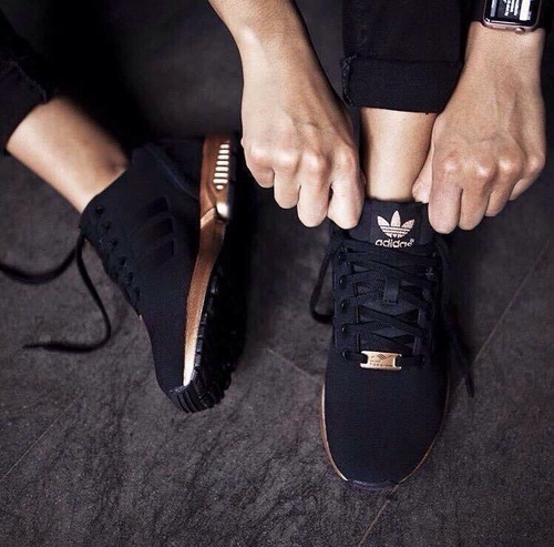 adidas zx flux damskie rose gold