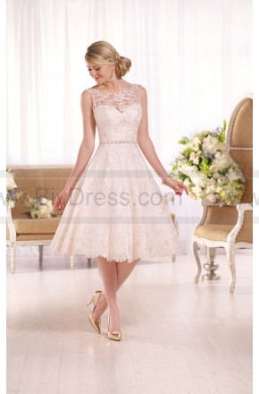 Essense of Australia Embroidered Knee-Length Wedding Gown Style D2101  $279.00(50% off)  2016 wedding dress,cheap wedding dresses online,plus size wedding dresses,wedding dress for sale,wedding dress prices