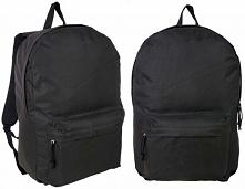 Czarny, klasyczny plecak, unisex