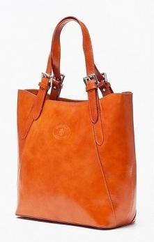 Skórzana torebka shopper bag