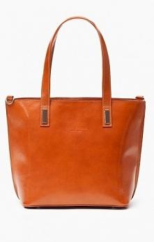 Duża karmelowa torebka, shopper bag