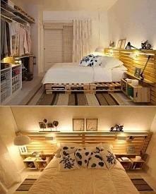 łóżko z palet :-D