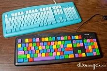 Colorful Computer Keyboard