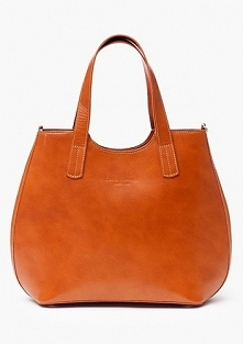 Klasyczna shopper bag w karmelowym kolorze