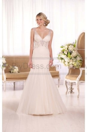 Essense of Australia French Tulle & Lavish Satin Wedding Gown Style D2078  $429.00(45% off)  2016 wedding dress,cheap wedding dresses online,plus size wedding dresses,wedding dress for sale,wedding dress prices