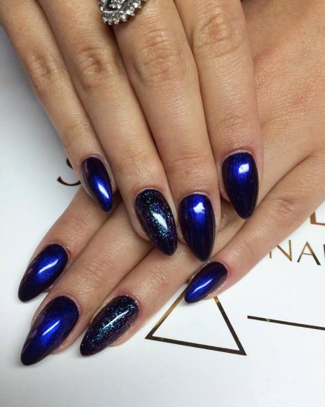 Hipnotyczny Niebieski Nails By Gosia Beautica Spn Nails Pr Na