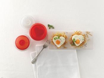 Zestaw do gotowania jajek serca OVO (2 szt.) - Lekue
