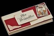 Kartka na czekoladę dla dziadka:)