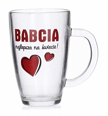 Kubek szklany / Szklanka GLASMARK BABCIA 300 ml