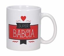 Kubek ceramiczny boss z napisem SUPER BABCIA 330 ml
