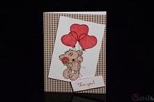Kartka na walentynki handmade
