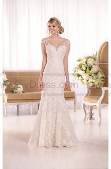 Essense of Australia Cap-Sleeve Fit-And-Flare Wedding Gown Style D1994  $459.00(51% off)  2016 wedding dress,cheap wedding dresses online,plus size wedding dresses,wedding dress...