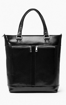Czarna skórzana torba
